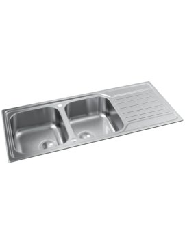 Abode Connekt Stainless Steel 2.0 Bowl And Drainer Inset Kitchen Sink