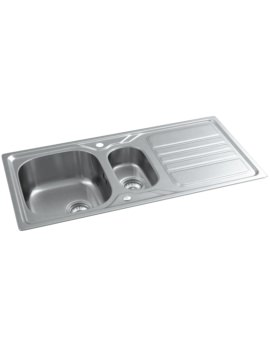 Abode Mikro Stainless Steel 1.5 Bowl And Drainer Inset Kitchen Sink