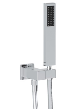 Abode Square Combined Wall Outlet With Shower Handset And Bracket
