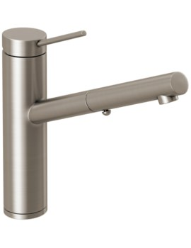 Abode Pluro Single Lever Pull-Out Spray Kitchen Mixer Tap Brushed Nickel