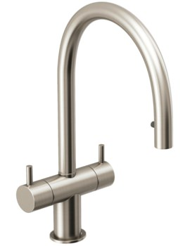 Abode Hesta Pull Out Kitchen Mixer Tap Brushed Nickel