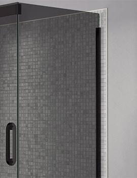 April Prestige Frameless 900mm Smoked - Black Side Panel For Shower Enclosure