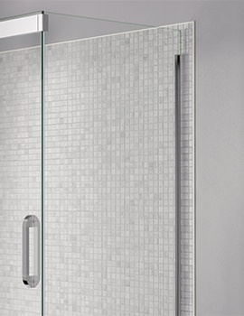 April Prestige Frameless 900mm Clear - Silver Side Panel For Shower Enclosure