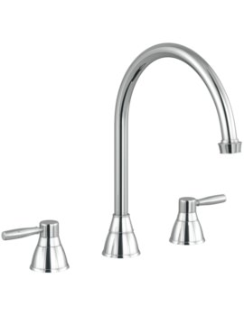 Abode Brompton 3 Part Kitchen Mixer Tap Chrome