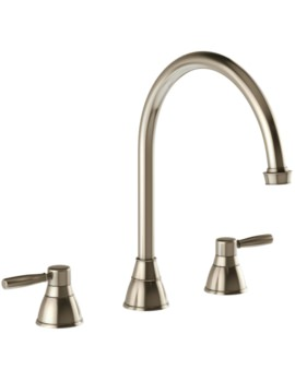 Abode Brompton 3 Part Kitchen Mixer Tap Pewter