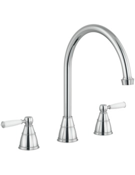 Abode Astbury 3 Part Kitchen Mixer Tap Chrome