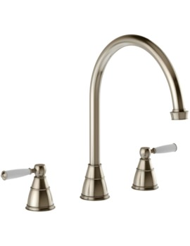 Abode Astbury 3 Part Kitchen Mixer Tap Pewter