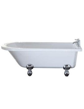 April Bentham 1700 x 750mm White Single Ended Freestanding Bath
