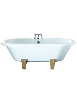 April Skipton 1700 x 750mm White Double Ended Freestanding Bath