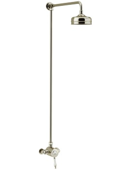 Heritage Glastonbury Exposed Thermostatic Gold Valve With Rigid Riser