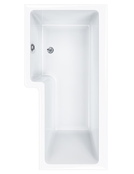 Carron Quantum 5mm Acrylic Square Shower Bath 1700 x 850mm Right Hand