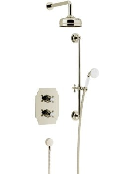 Heritage Hartlebury Recessed Thermostatic Gold Valve With Head And Kit