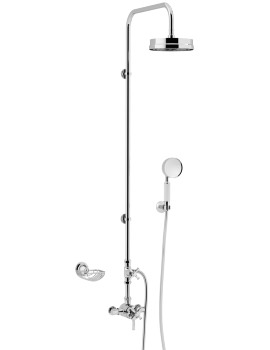 Heritage Somersby Traditional Exposed Thermostatic Valve With Rigid Riser And Handset