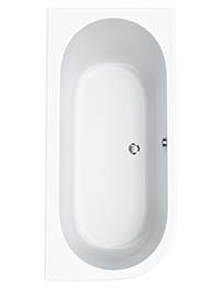 Carron Status 5mm Acrylic Offset Corner Bath 1700 x 725mm - Left Hand