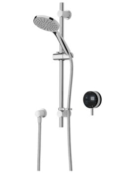 Bristan Artisan Digital Electric Mixer Shower With Adjustable Riser Black