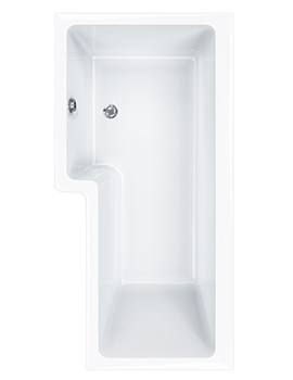 Carron Quantum 5mm Acrylic Square Shower Bath 1600 x 850mm Right Hand