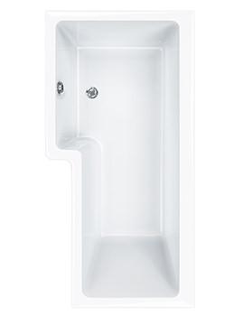 Carron Quantum 5mm Acrylic Square Shower Bath 1600 x 850mm Right Hand