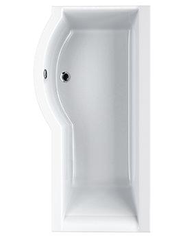 Carron Urban Compact 5mm Acrylic Shower Bath 1500 x 900mm - Left Hand