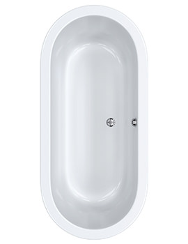 Carron Halcyon Oval Freestanding Carronite Bath 1750 x 800mm White