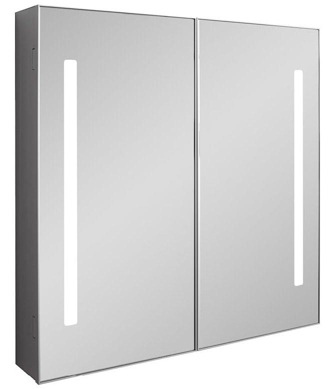 Bauhaus allure double door 700 x 700mm mirror cabinet for Bathroom cabinets 70cm wide