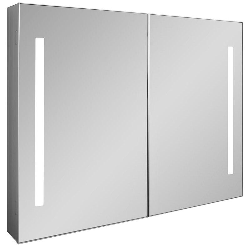 Bauhaus allure double door 900 x 700mm mirror cabinet for Bathroom cabinets 70cm wide