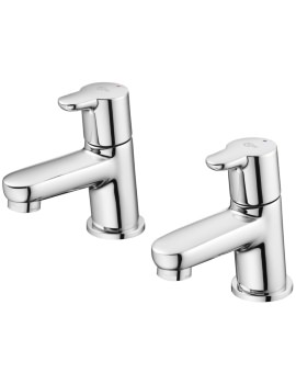 Ideal Standard Concept Blue Washbasin Pillar Taps
