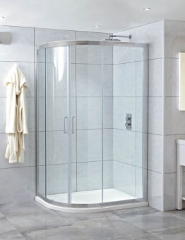 Phoenix Spirit 1200 x 900mm LH Quadrant Shower Enclosure With Tray