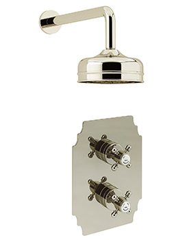 Heritage Hartlebury Recessed Thermostatic Gold Valve With Fixed Head Kit