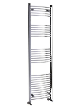 Phoenix Gina 600 x 1800mm Curved Pre Filled Electric Radiator