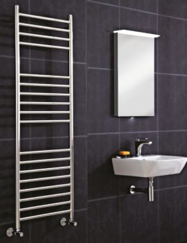 Phoenix Athena 350 x 1600mm Stainless Steel Pre Filled Electric Radiator