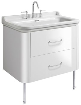 Bauhaus Waldorf 800mm Basin Unit With Legs And 2 Handles