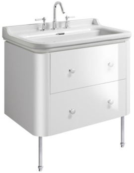 Bauhaus Waldorf 800mm Basin Unit With Legs And 4 Knobs