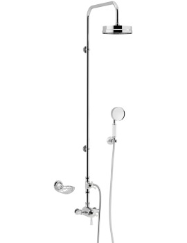 Heritage Gracechurch Thermostatic Rigid Shower With Mother Of Pearl Handle