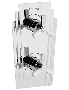 Heritage Gracechurch Recessed Thermostatic Shower Valve With 2 Outlets