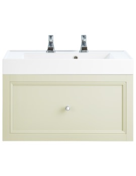 Heritage Caversham Oyster 700mm 1 Drawer Wall Hung Furniture Vanity Unit