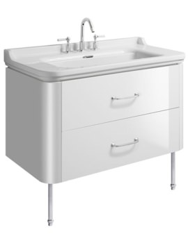 Bauhaus Waldorf 1000mm Basin Unit With Legs And 2 Handles