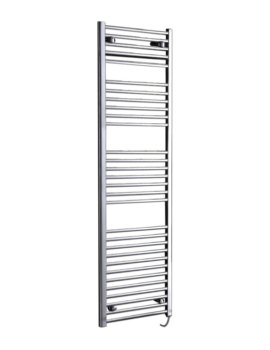Phoenix Flavia 300 x 1500mm Straight Pre Filled Electric Radiator Chrome
