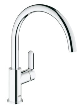 Grohe BauEdge Deck Mounted Kitchen Sink Mixer Tap