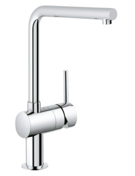 Grohe Minta L Spout Kitchen Sink Mixer Tap Chrome