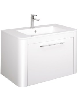 Bauhaus Celeste 800mm Single Drawer Basin Unit