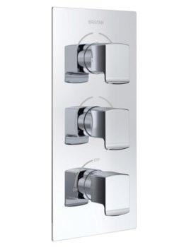 Bristan Descent Thermostatic 3 Handle Control Shower Valve