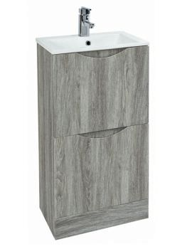 Phoenix Malmo 400mm Floor Standing Avola Unit With Basin