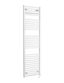 Phoenix Flavia 400 x 1200mm Straight Pre Filled Electric Radiator White