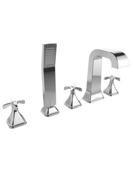 Bristan Glorious 5 Hole Deck Mounted Bath Shower Mixer Tap