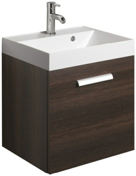 Bauhaus Design Plus 500mm Single Drawer Wall Hung Basin Unit