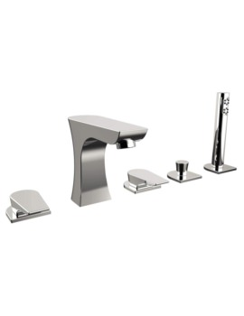 Bristan Hourglass 5 Hole Deck Mounted Bath Shower Mixer Tap