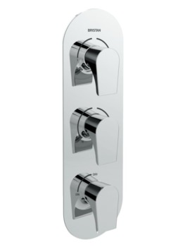 Bristan Hourglass Thermostatic Recessed Three Control Valve With Diverter