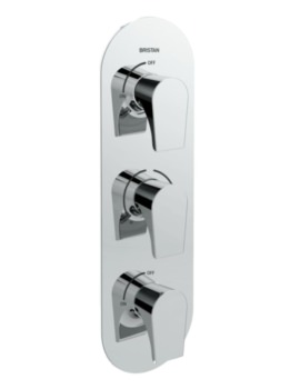 Bristan Hourglass Thermostatic Recessed Three Control Shower Valve
