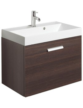 Bauhaus Design Plus 700mm Single Drawer Wall Hung Basin Unit