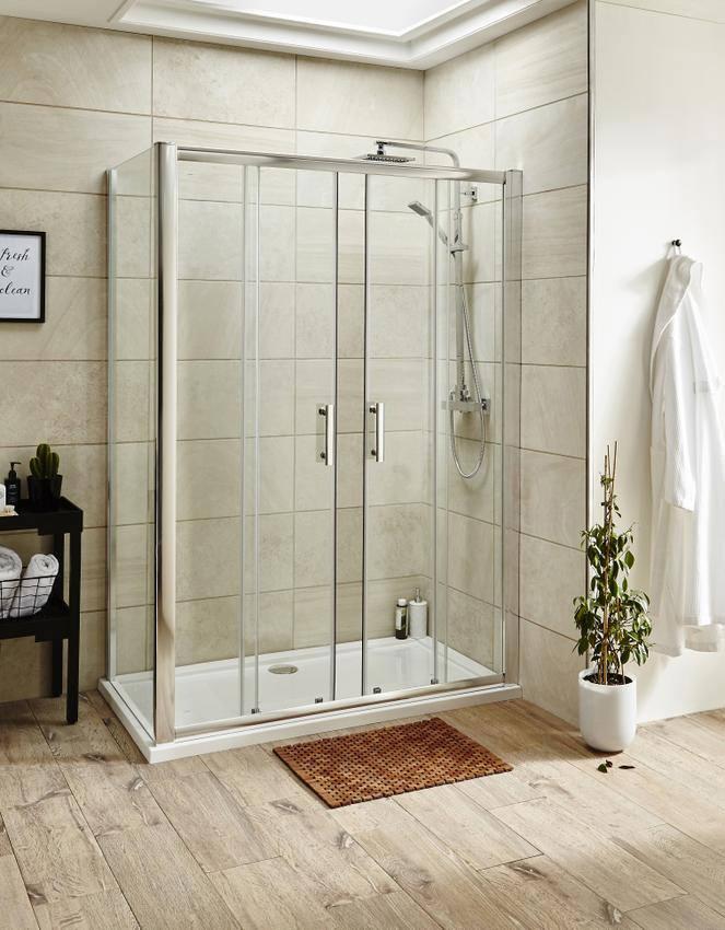 Lauren Pacific 1600 X 1850mm Double Sliding Shower Door